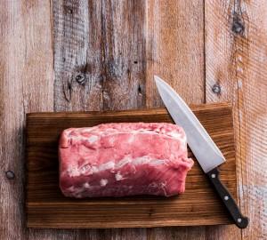 carne de cerdo para cortar